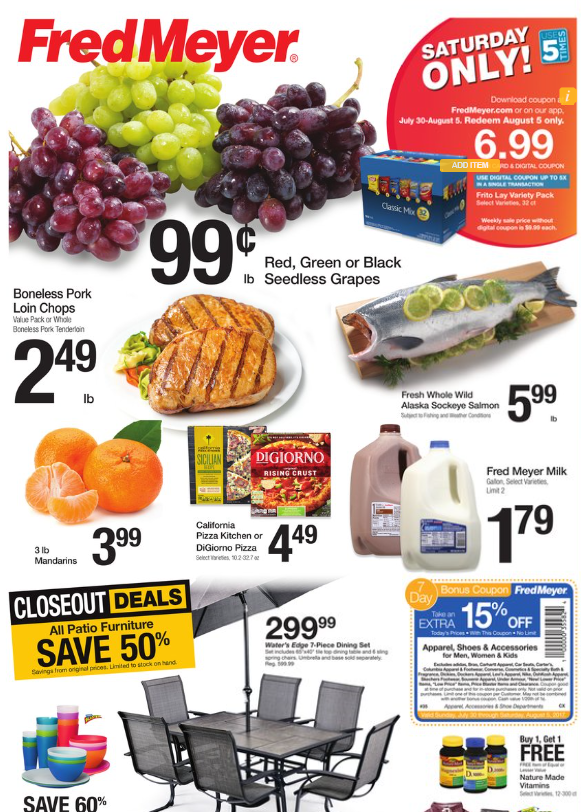 Spectacular Fred Meyer Weekly Coupon Deals u lb Grapes Milk and More