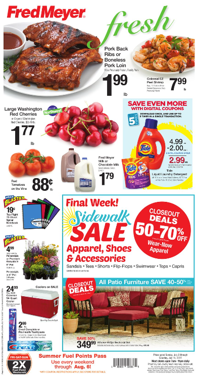 Marvelous Fred Meyer Weekly Coupon Deals u Tide lb Cherries More