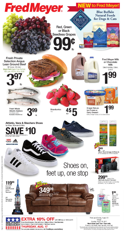Fred Meyer Weekly Coupon Deals 8 13 – 8 19 $0 99 Grapes