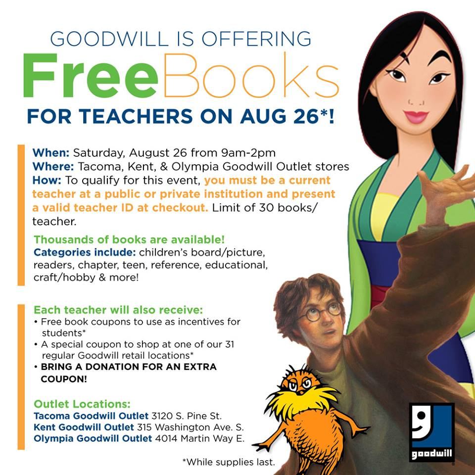 Goodwill Outlet Free Books For Teachers Aug 26th