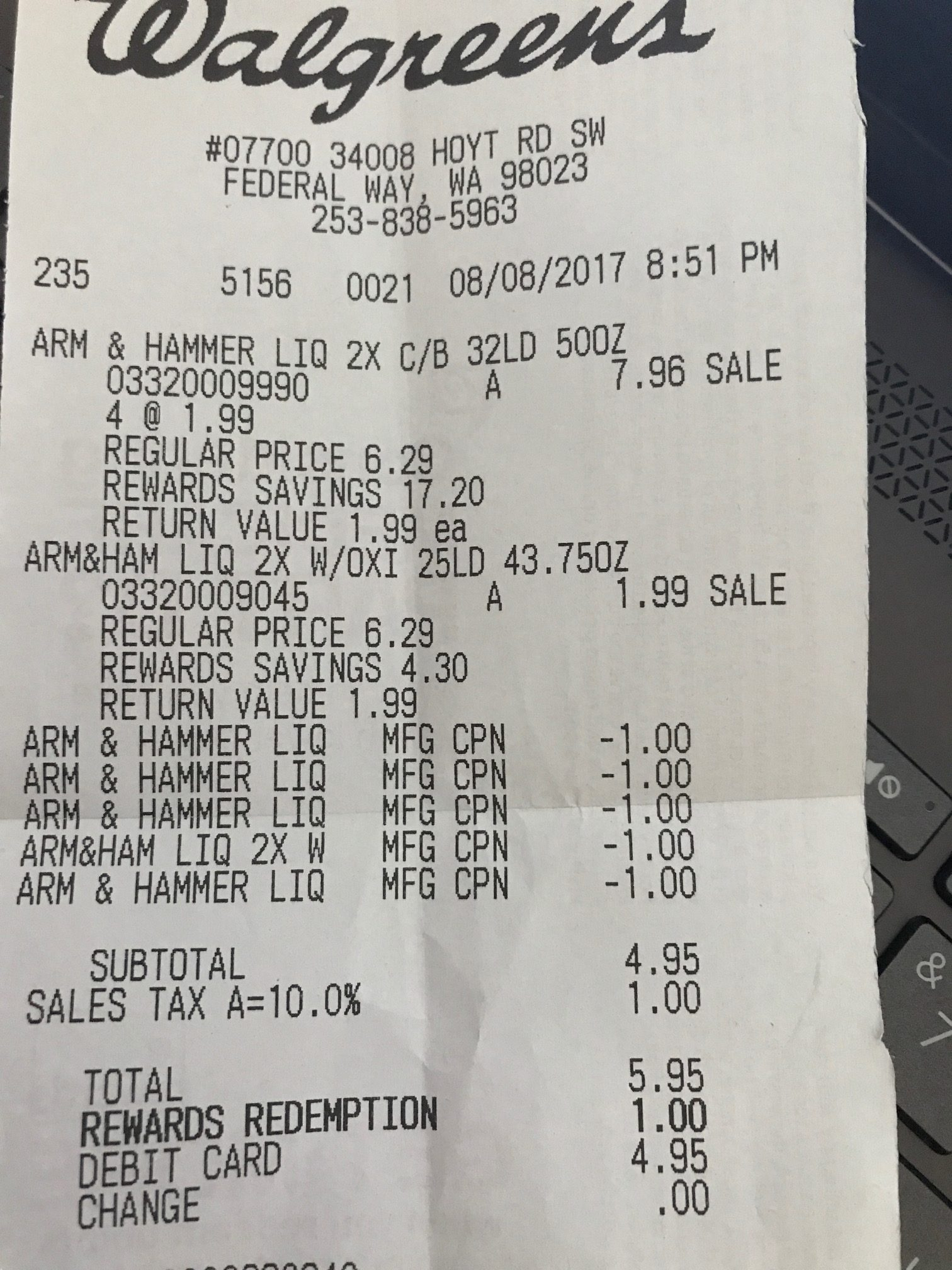 Walgreens: $0.99 Arm & Hammer Laundry Soap!