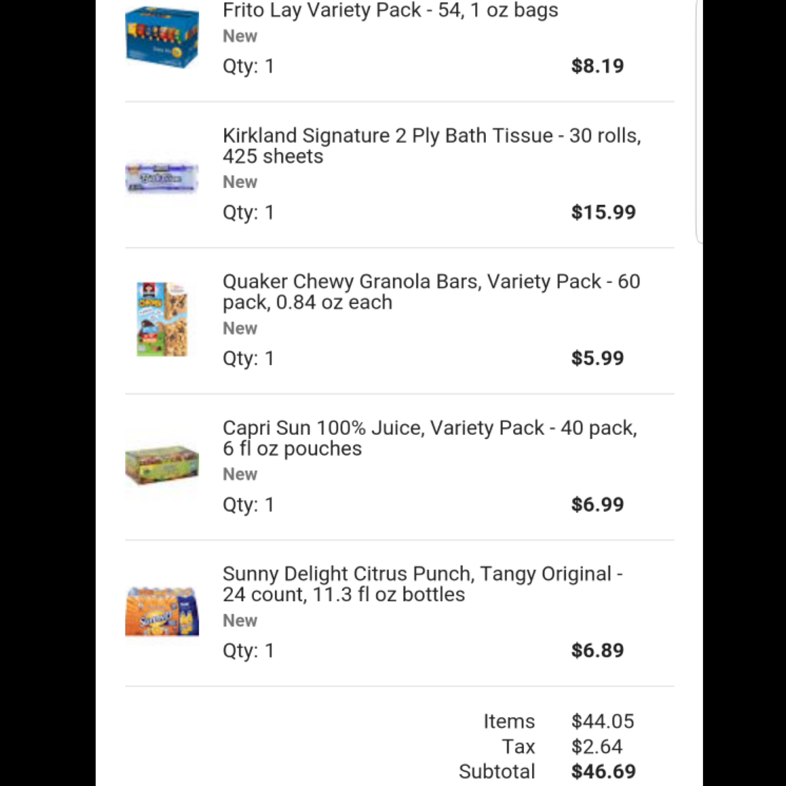 Review: Google express, Groupon deal and Costco delivered