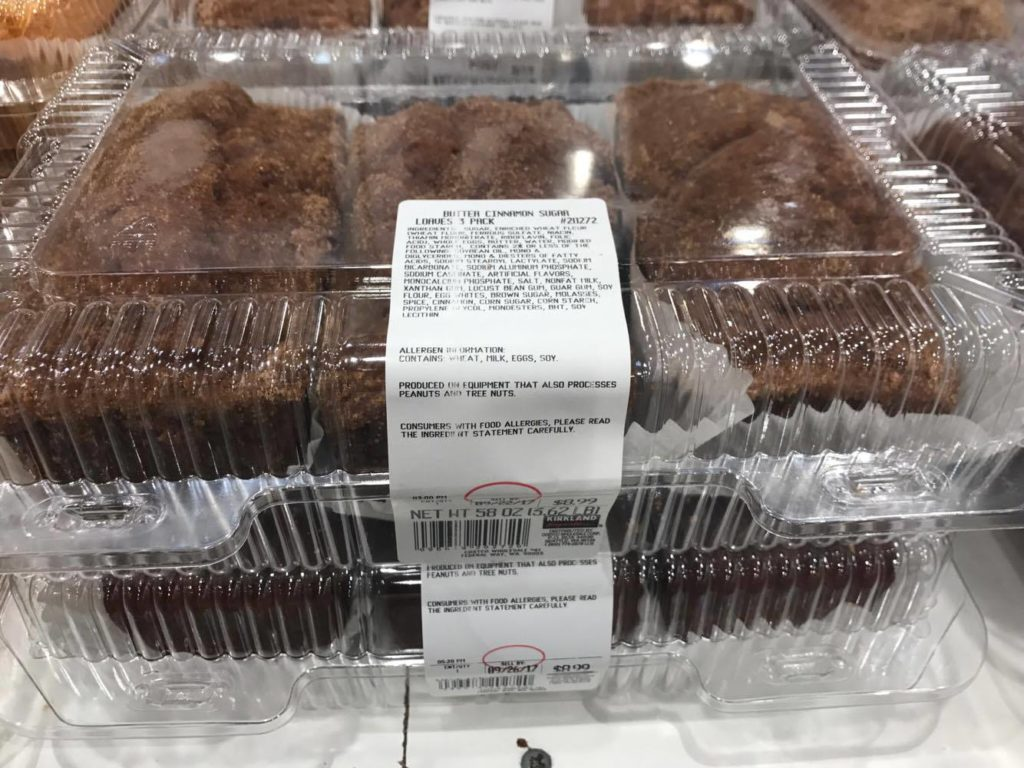 Butter Cinnamon Sugar Loaves at Costco Bakery