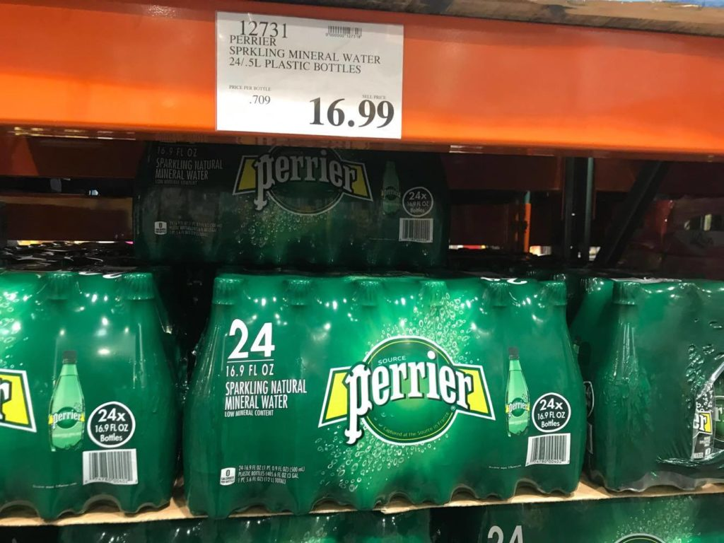 Perrier Water Bottles at Costco