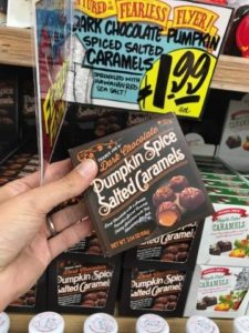 Dark Chocolate Pumpkin Candies at Trader Joes