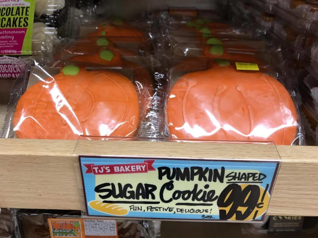 Pumpkin Shaped Cookies at Trader Joe's