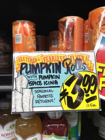 Pumpkin Rolls at Trader Joe's