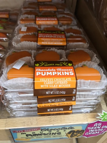Chocolate Mousse Pumpkins at Trader Joe's