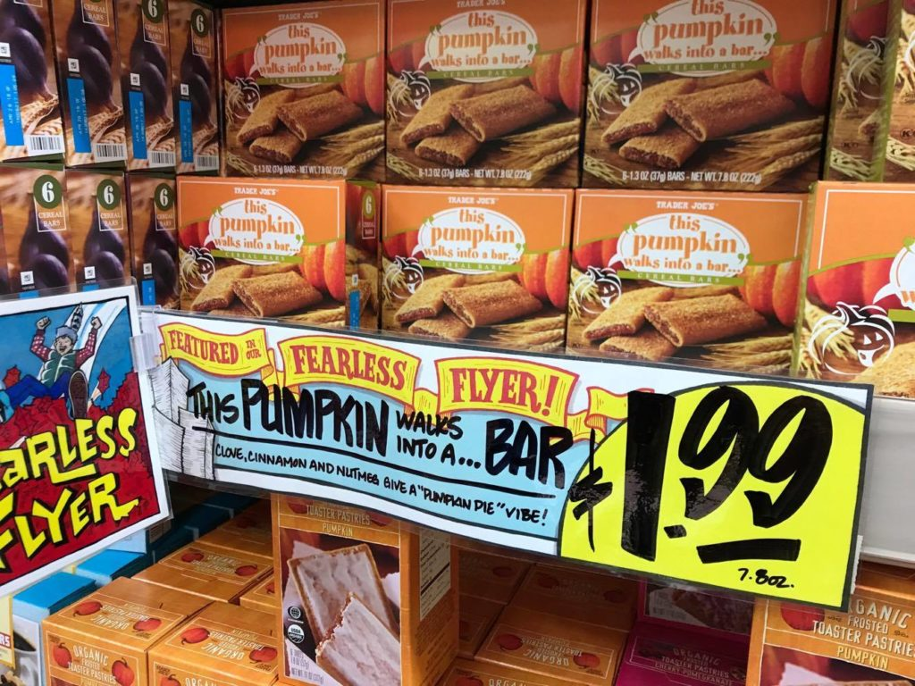 Pumpkin Bars at Trader Joe's