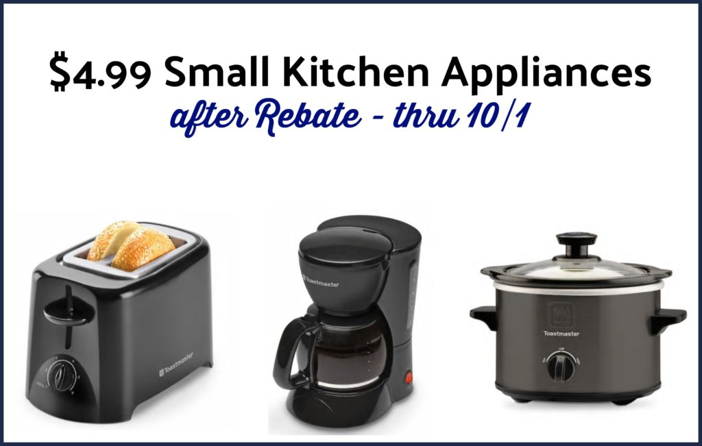Kohl's: Select Toastmaster Small Kitchen Appliances, $4.99 after Rebate