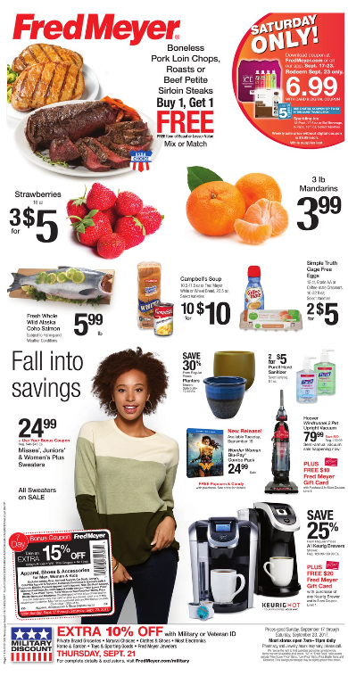 Fred Meyer Weekly Coupon Deals 9 17 – 9 23 Buy 4 Save $4