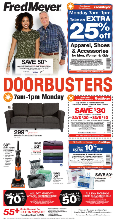 Fred Meyer Labor Day Sale 2017 – Doorbuster Deals & More!