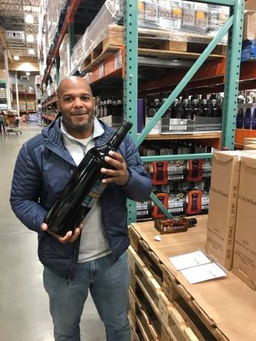 Huge Wine Bottle at Costco