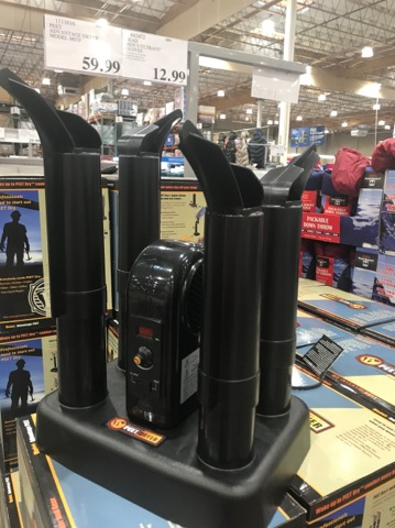 Boot Dryer at Costco