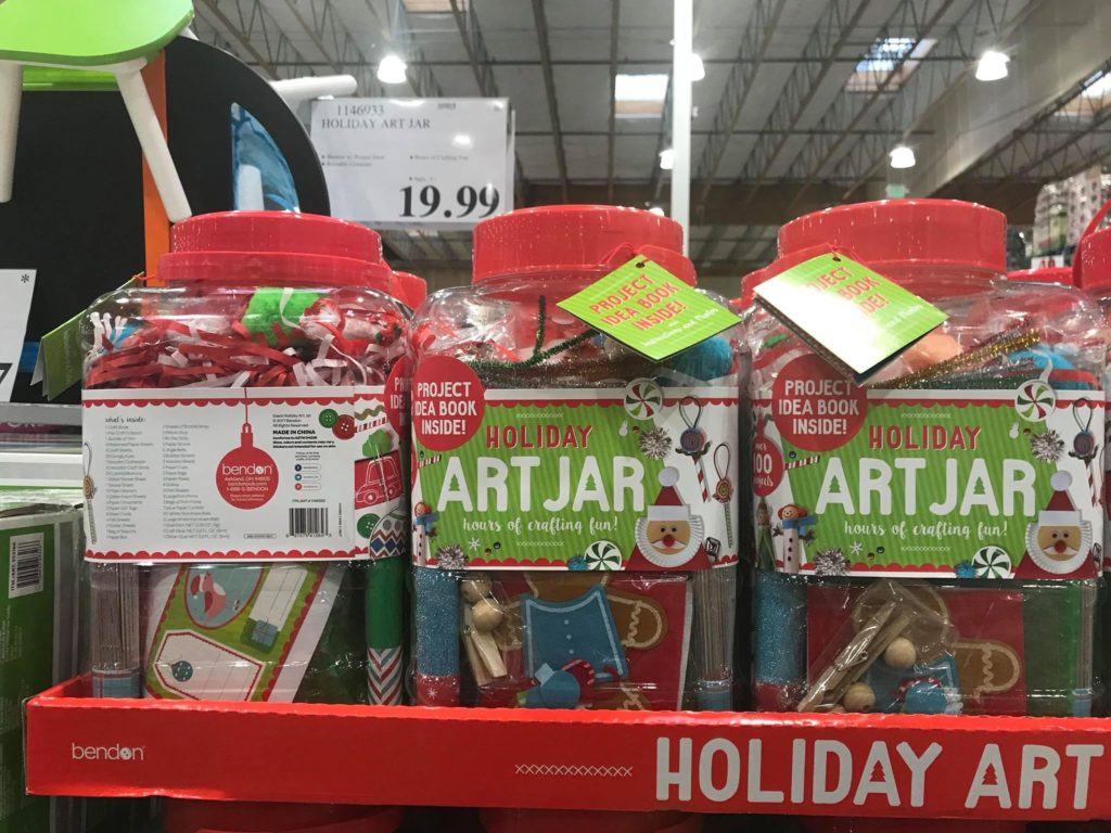 Holiday Day Art Jar at Costco