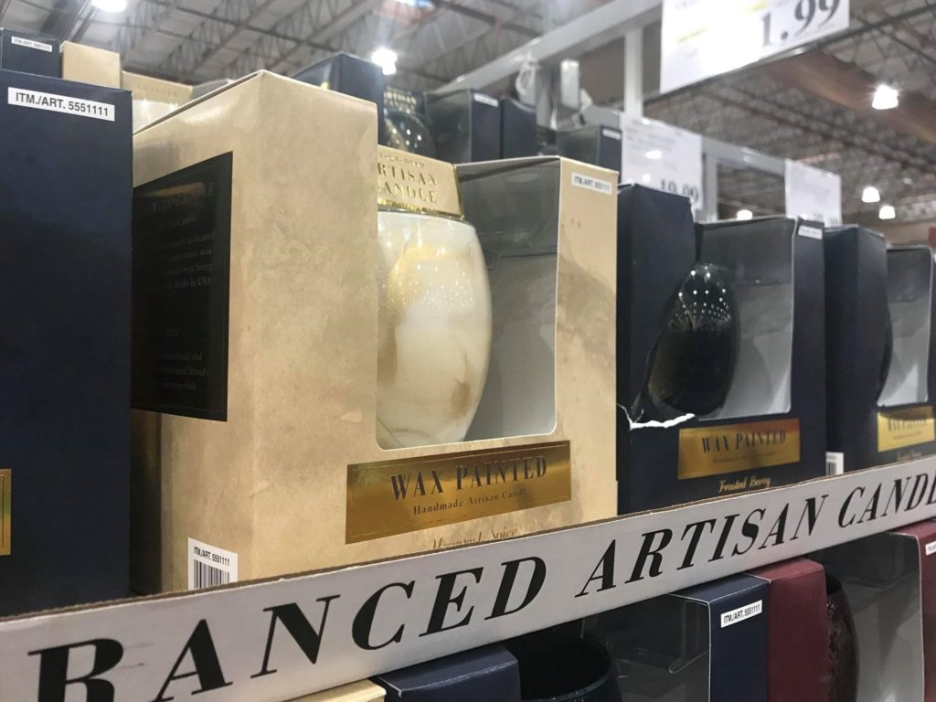 Wax Painted Jar Candle at Costco
