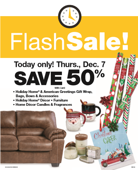 Fred Meyer Home Decor: Fred Meyer Flash Sale: 50% Off Gift Wrap, Furniture