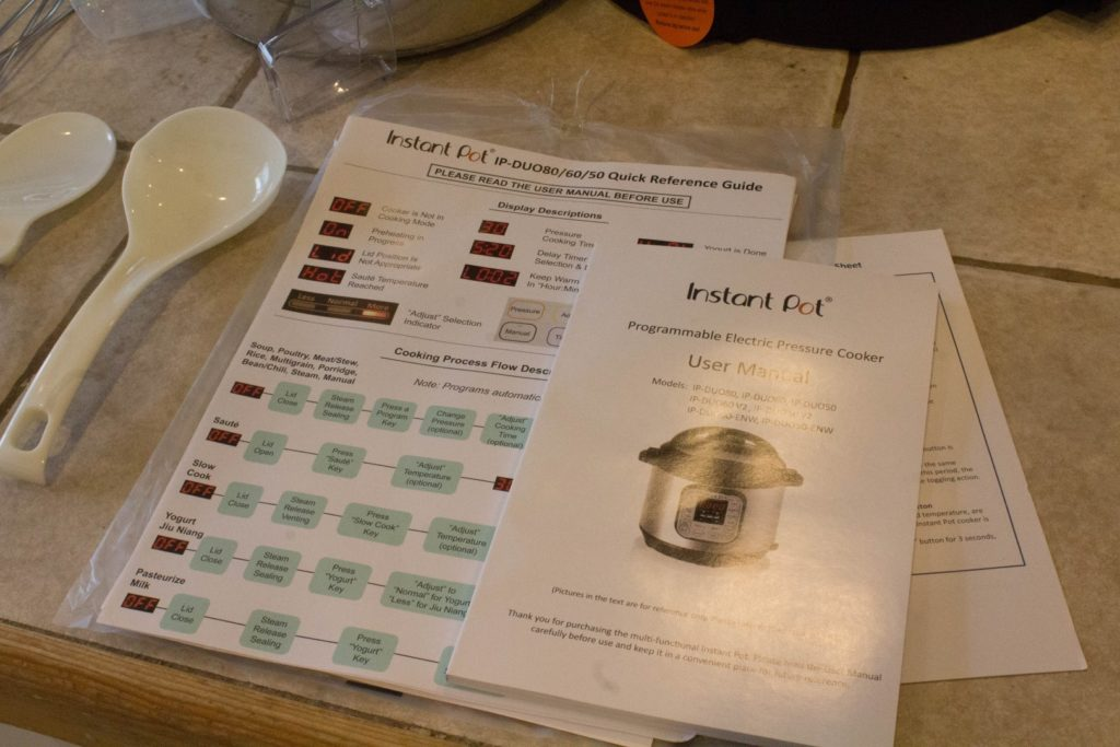Manuals for the Instant Pot