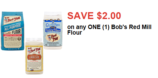graphic about Bobs Printable Coupons identified as Substantial-Great importance $2/1 Bobs Pink Mill Flour Printable Coupon - The