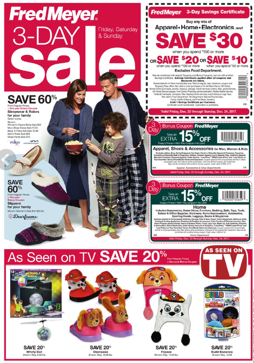Fred Meyer 3-Day Sale (12/22 - 12/24) - The Coupon Project