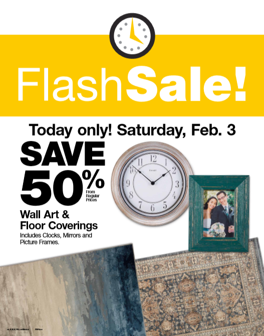 Fred Meyer Flash Sale: 50% off Wall Art & Floor Coverings (2/3 only)