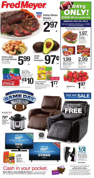 Fred Meyer Weekly Coupon Deals 1 28 2 3 Party Items