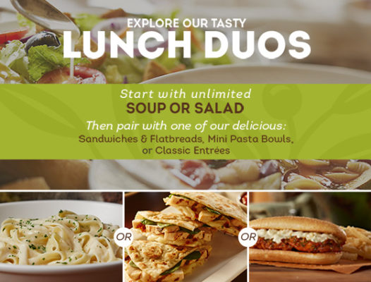 Olive Garden Lunch Duo Starting at $5.94 To-Go! (Includes Entree ...