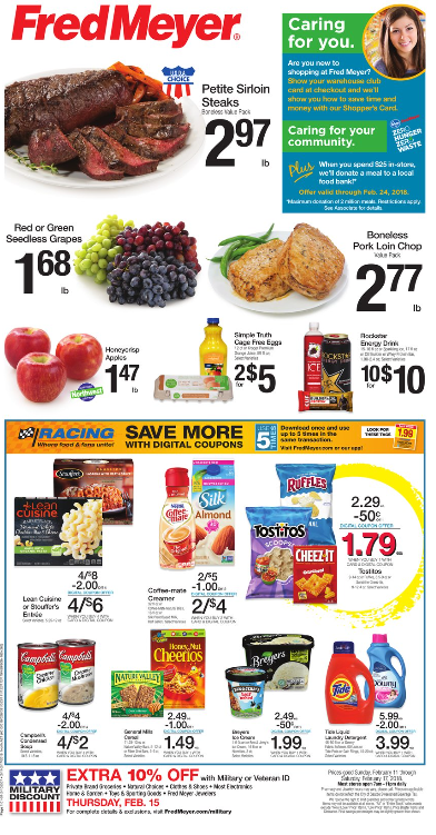 Fred Meyer Weekly Coupon Deals 2 11 – 2 17 $1 68 lb