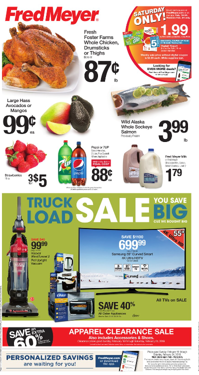 Fred Meyer Weekly Coupon Deals 2 18 – 2 1 $0 87 lb