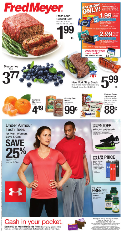 Fred Meyer Weekly Coupon Deals 2 25 – 3 5 $0 99 Bread