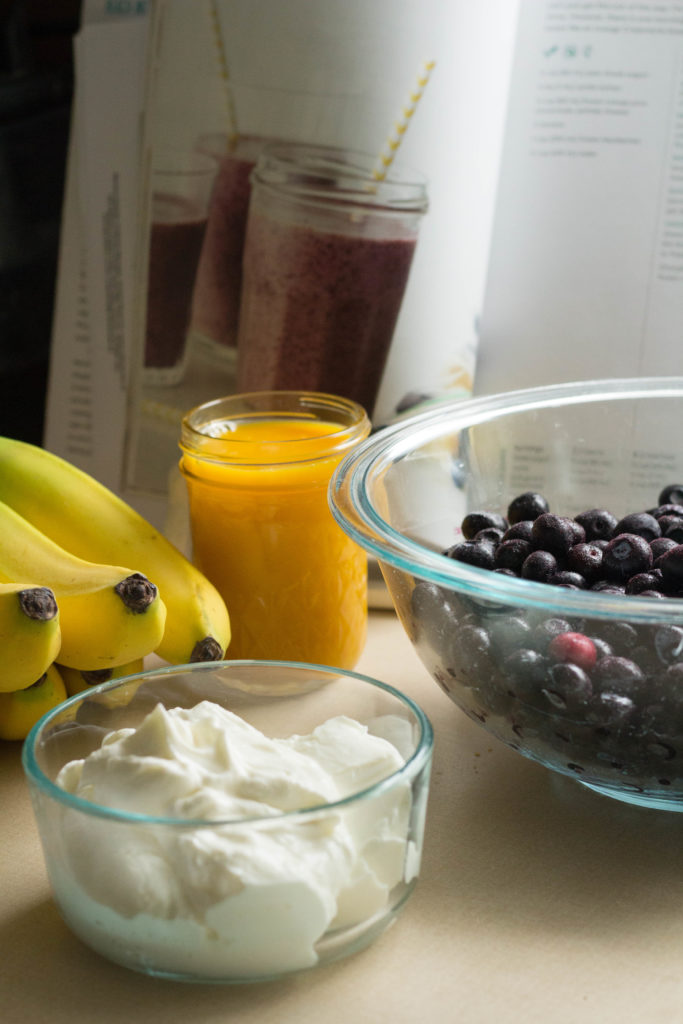 Blueberry Orange Smoothie Kit Ingredients