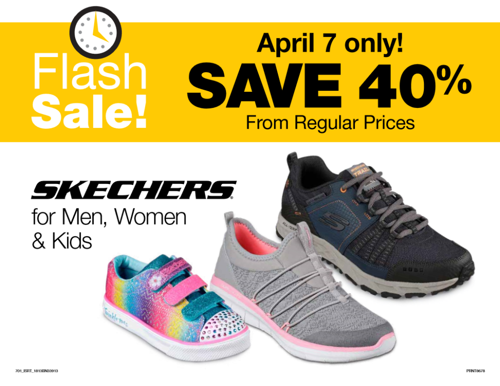1edd36bffaec Fred Meyer Flash Sale  40% off Skechers (4 7 only)