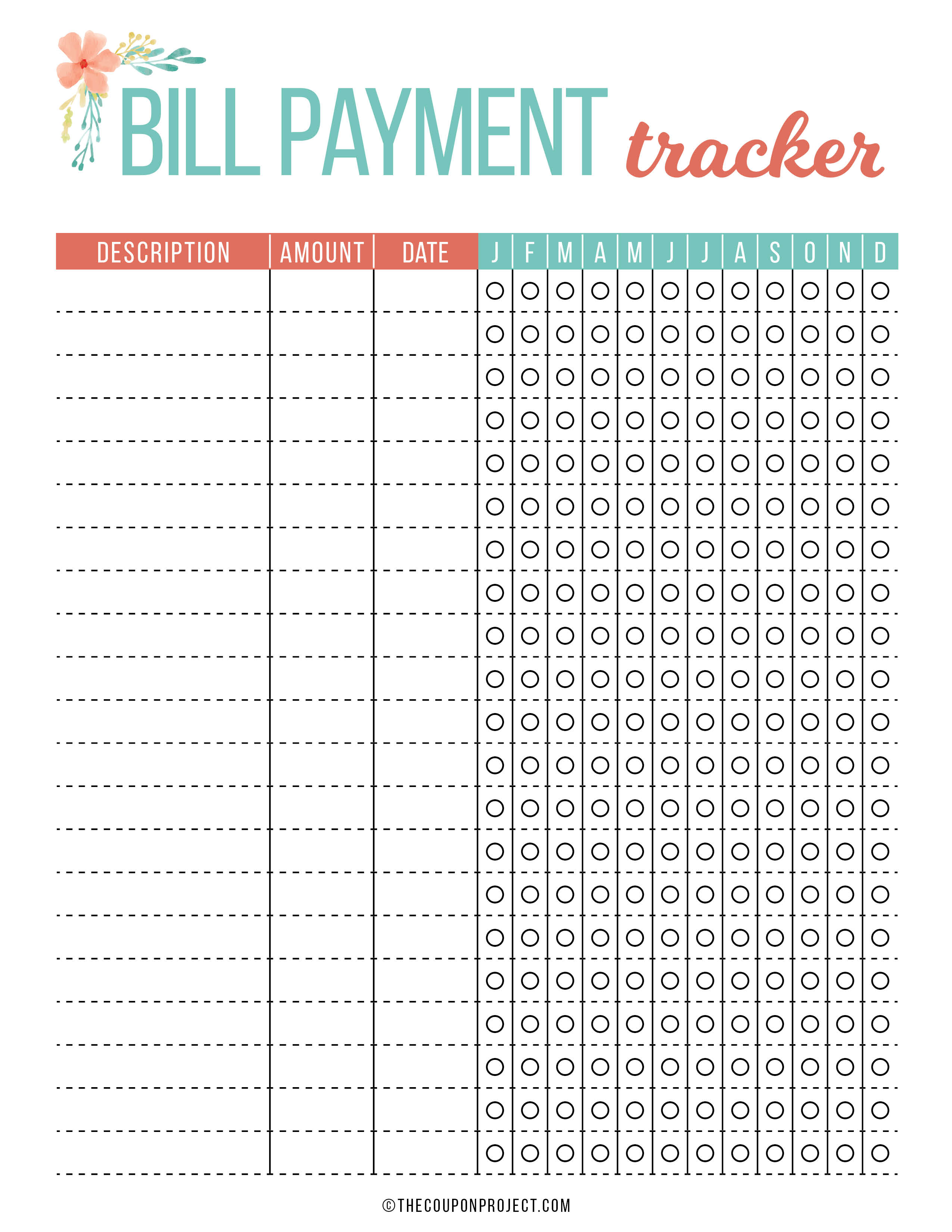 photograph regarding Free Printable Bill Tracker named Cost-free Price range and Money Coming up with Printables - The Coupon