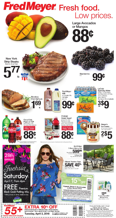 Fred Meyer Weekly Coupon Deals 4/1 - 4/10: Lots of Grocery