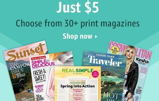 Amazon magazine coupons