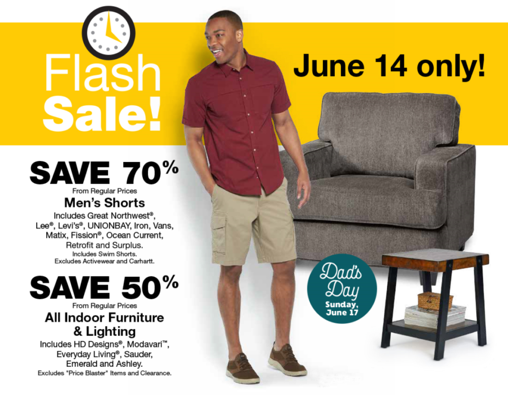 fred meyer flash sale 70 on men�s shorts 50 off