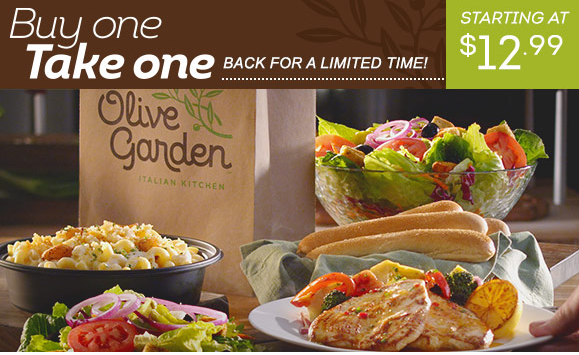 Olive garden how to score 6 entrees soup salad and - Olive garden soup and salad dinner ...