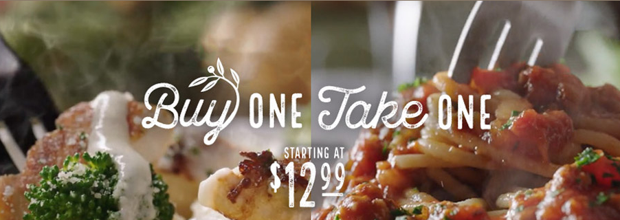 Buy One Take One Free Entrees At Olive Garden