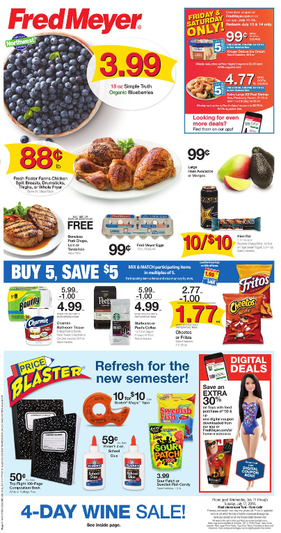 photograph about Oscar Meyer Printable Coupons titled Fred Meyer Weekly Coupon Specials 7/11 - 7/17: Uncomplicated Fact