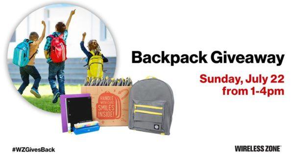 verizon backpack give away