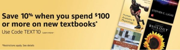 Amazon textbook coupon code