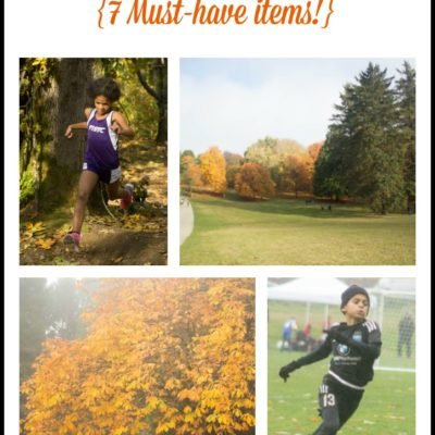 Fall Sports: Parents' Survival Guide {7 Items You Must Have!}
