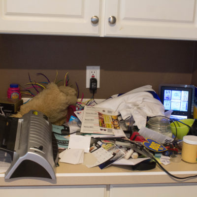 Taking Care of Small Things: Cleaning a Cluttered Counter