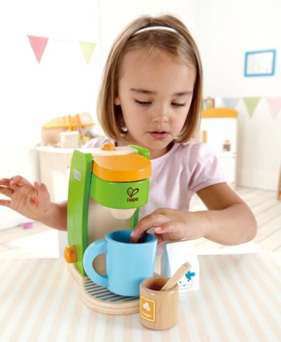 Hape Kid S Coffee Maker Wooden Play Kitchen Set With Accessories