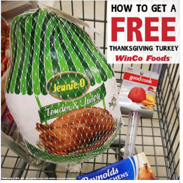 Winco Free Turkey With 100 Purchase Through Thanksgiving