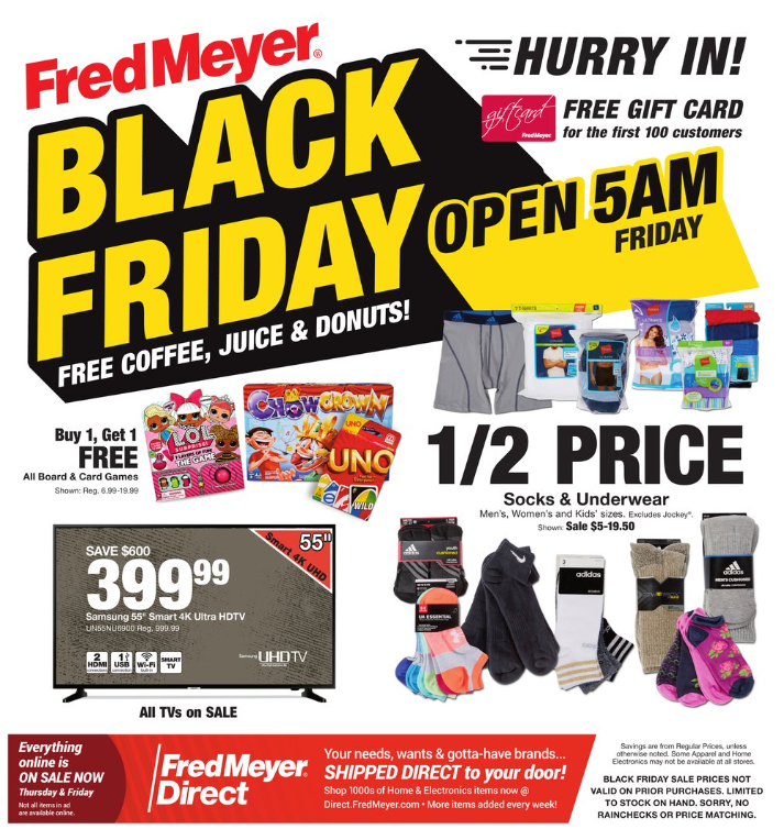 460b819abf1 Fred Meyer has released their Black Friday ad for 2018. You can see the  entire 40-page ad over at fredmeyer.com/weeklyad. I won't bore you by  regurgitating ...