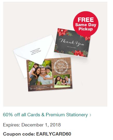 Walgreens Christmas Card.Walgreens 60 Off All Christmas Holiday Cards And Same