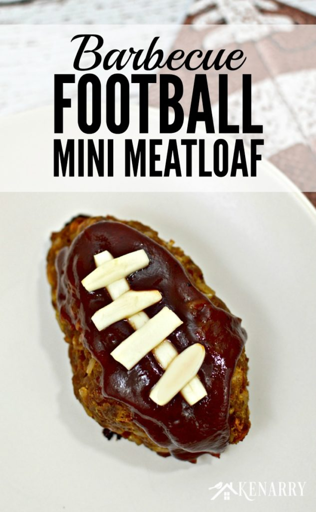 Barbecue Football Mini Mealoaf