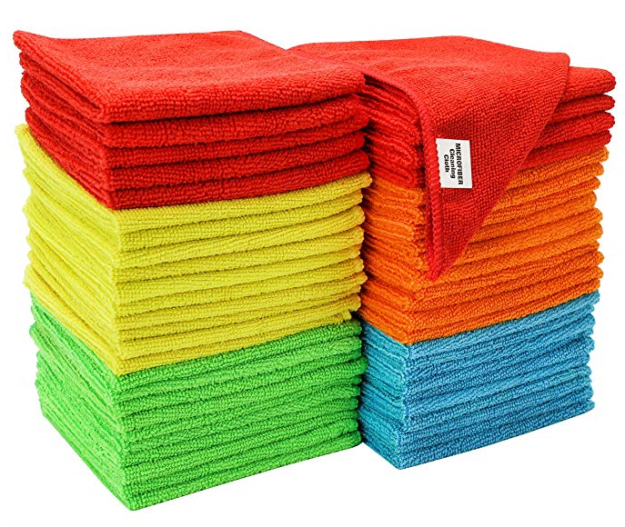 Microfiber Cloth Set: Amazon: Set Of 50 Microfiber Cleaning Cloths, $14.39