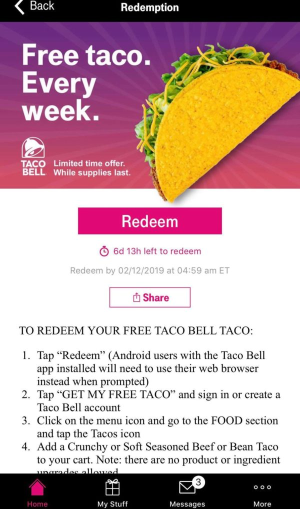 T-Mobile Tuesdays: Get a Free Taco, Free Lift Ride and Free